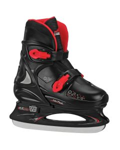 PAMIR Boys Adjustable Ice Skate Black/Red